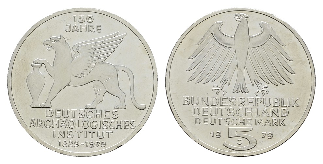 MGS BRD 5 DM 1979 J Deutsches Archäologisches Institut Feingewicht: 7g