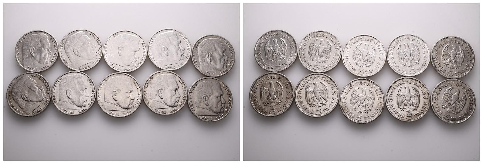 MGS Kaiserreich 3x 1 Mark (1896 A, 1898 A, 1904 A)