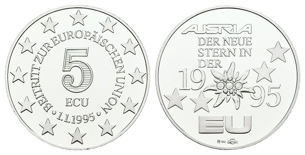 MGS BRD Silbermedaille zu 10 Euro 1997 mit Briefmarke Brandenburger Tor Feingewicht: 26,27g
