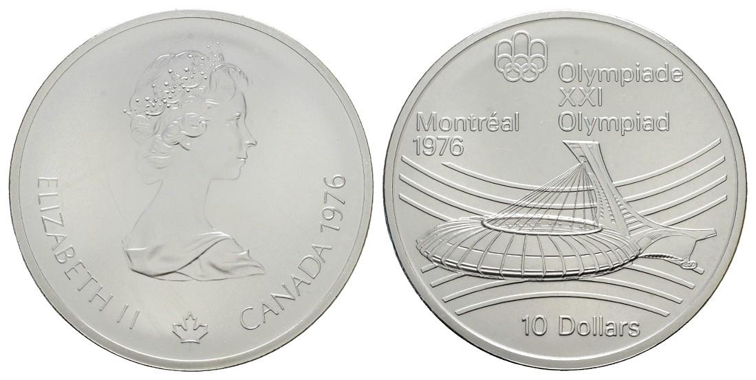 MGS Kanada 10 Dollars 1976 Olympiade Montréal 1976 Olympiastadion Feingewicht: 44,96g