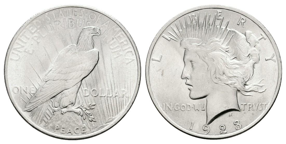 MGS USA Dollar 1923 Philadelphia f.stgl Feingewicht 24,05g