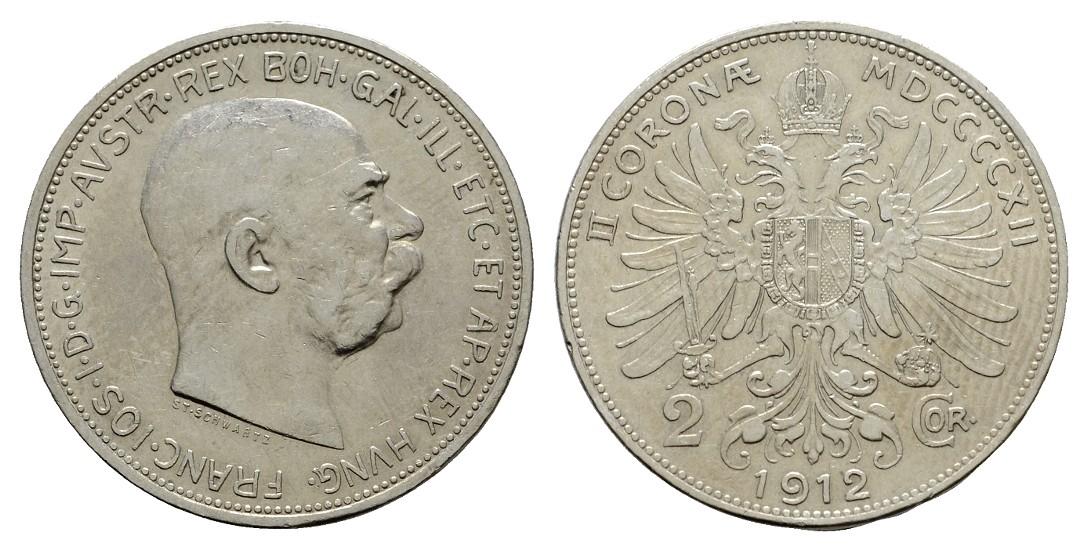 MGS Österreich-Ungarn Franz Josef I. 2 Corona 1912 Feingewicht: 8,35g