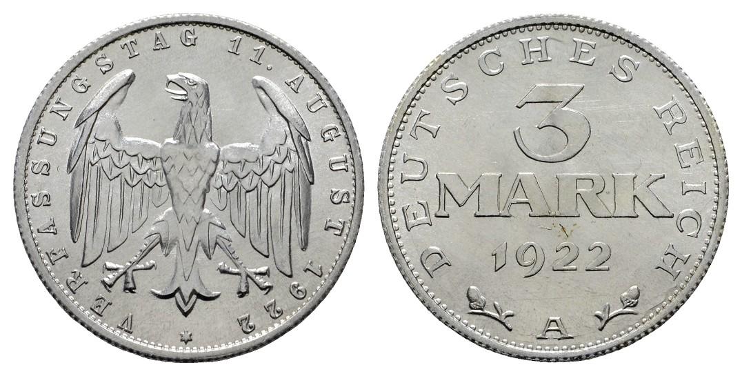 MGS Weimar 3 Mark 1922 A Stgl