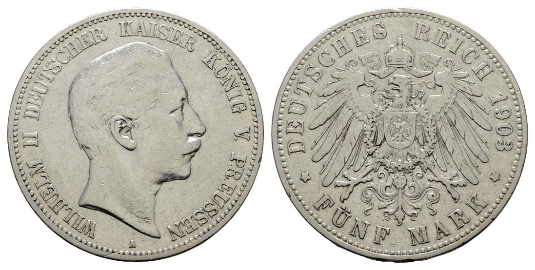 MGS Preussen Wilhelm II. 5 Mark 1903