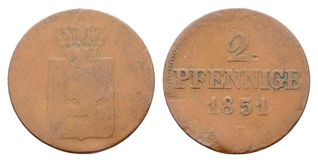 MGS Sachsen 2 Pfennige 1851 s
