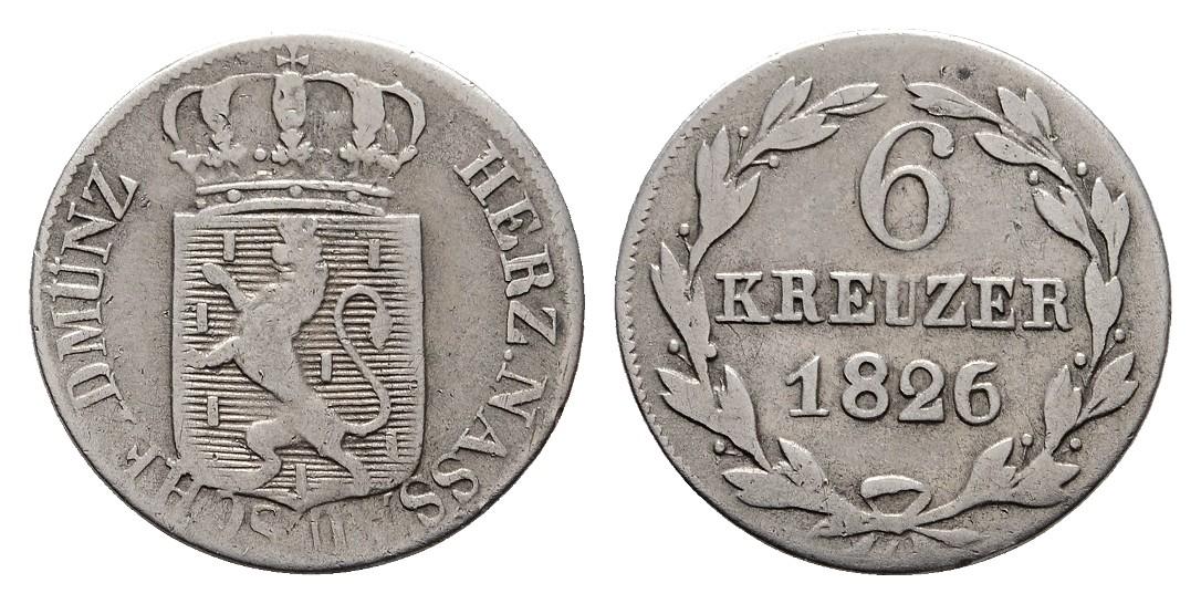 MGS Nassau 6 Kreuzer 1826