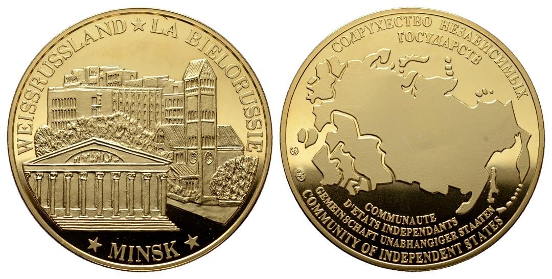 MGS Weissrussland Medaille o.J. Minsk Gemeinschaft Unabhängigkeit der Staaten Gewicht: 28,6g