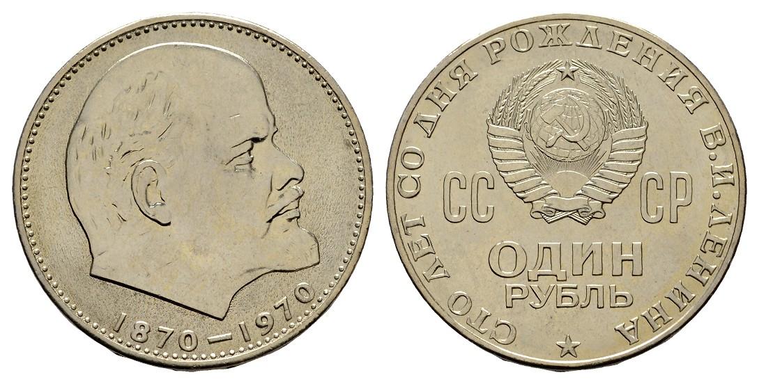 MGS Russland 1 Rubel 1970 100. Geburtstag Vladimir Lenin
