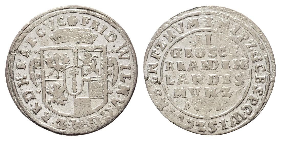 MGS Brandenburg-Preussen Friedrich Wilhelm  2 Groschen 1656? ss-vz