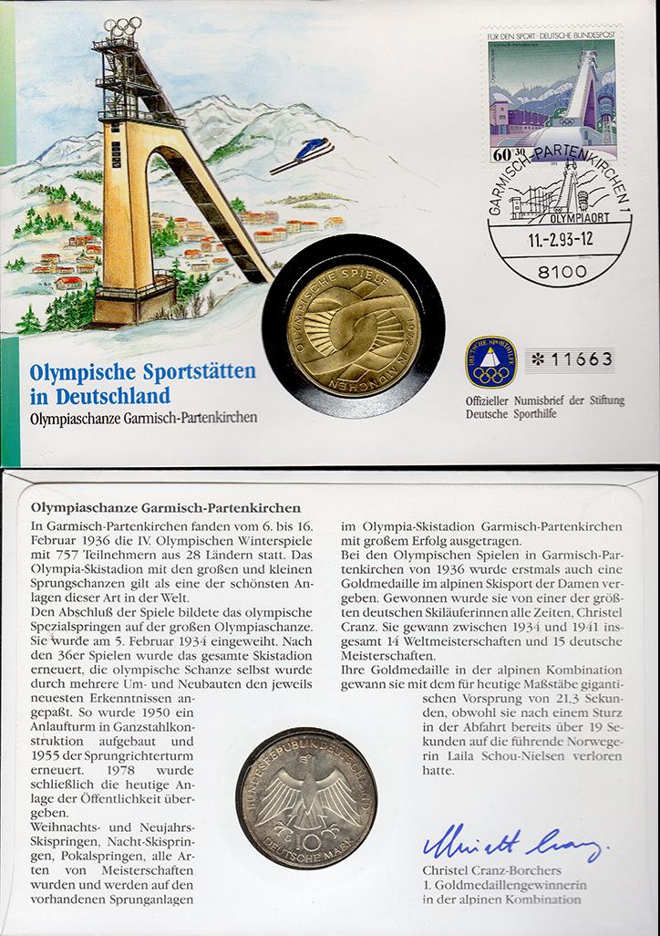 MGS BRD Numisbrief 10 DM 1972 G Verschlungene Arme Feingewicht: 9,7g