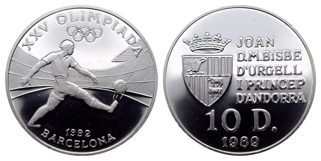 MGS Andorra 10 Diners 1989 Olympiade PP Feingewicht: 11,1g