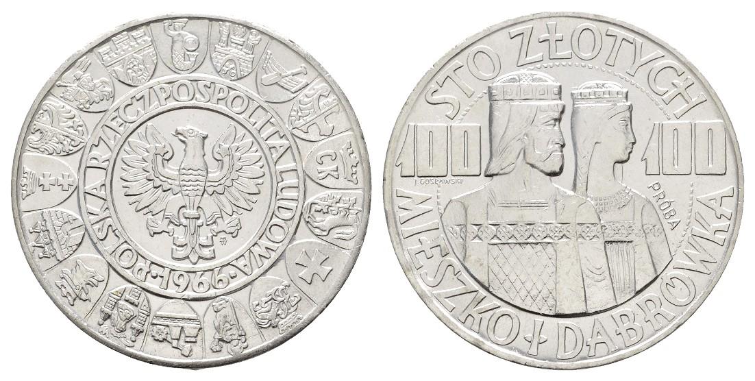 Linnartz Polen 100 Zloty 1966 Probe f.stgl