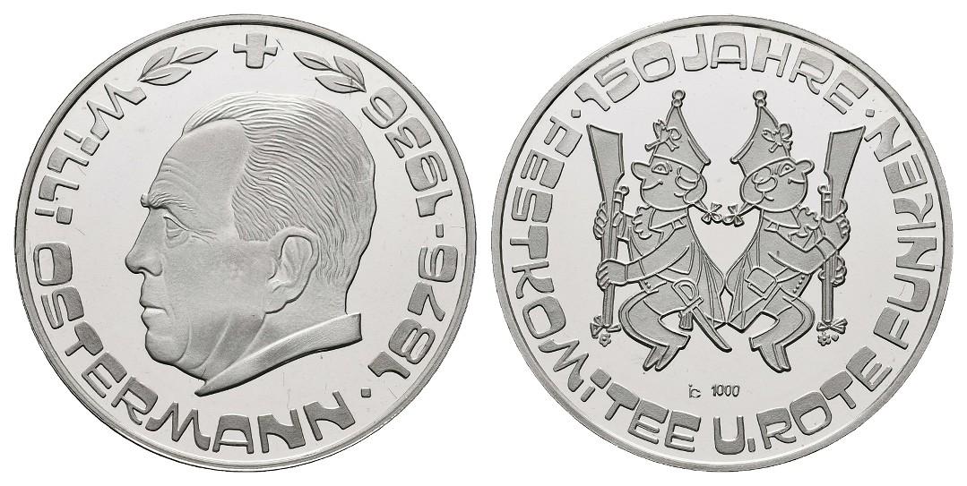 Linnartz Köln Silbermedaille o.J.(1978) 150 Jahre Festkomitee Rote Funken PP Gewicht: 15,2g/1.000er