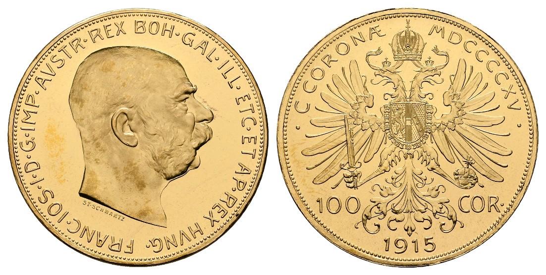 Linnartz Österreich Franz Josef I. 100 Corona 1915 NP PP- Gewicht: 33,88g/900er