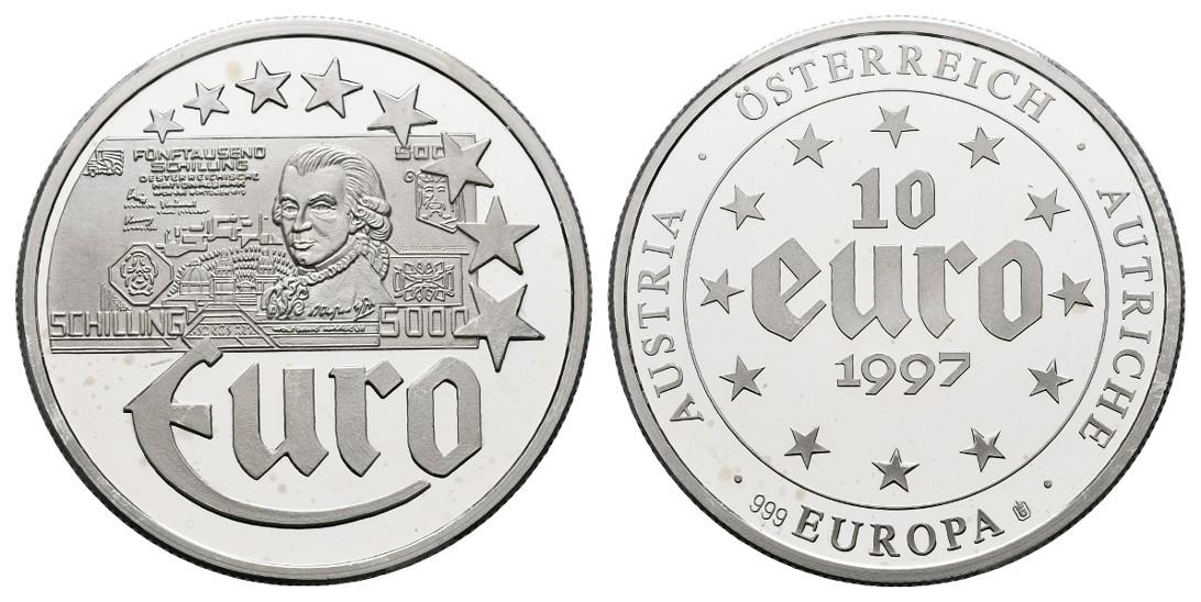 Linnartz Österreich Silbermedaille (10 Euro 1997) PP Gewicht: 20,0g/999er