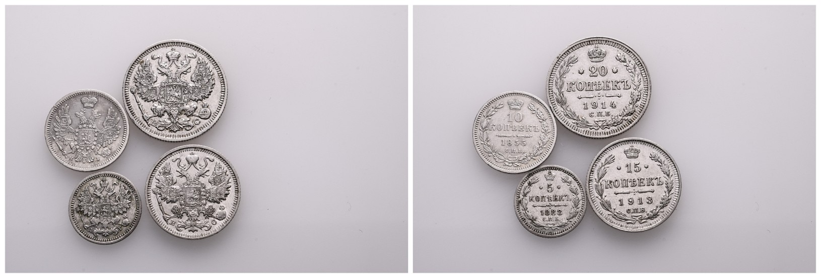 Linnartz Russland Lot 4 Kleinmünzen