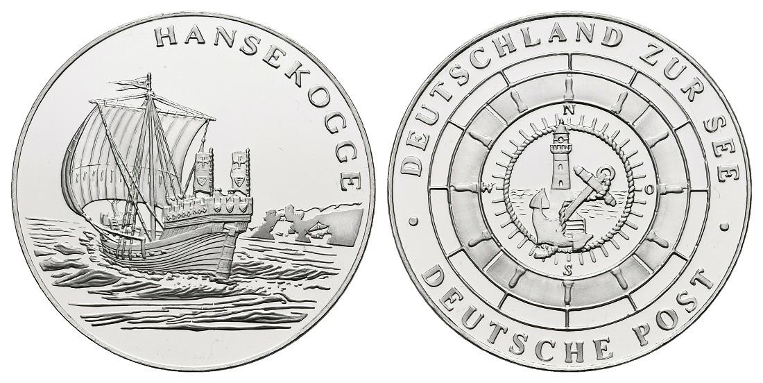 Linnartz BRD Schiffe Silbermedaille o.J. Hansekogge PP Gewicht: 15,0g/500er