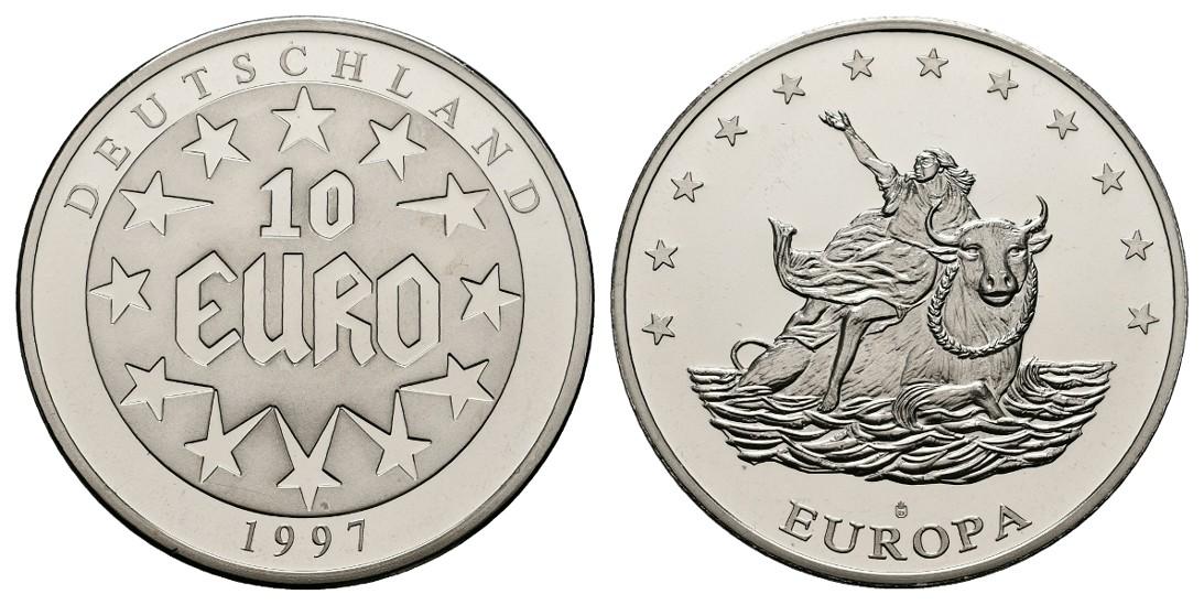 Linnartz BRD Medaille 1997 (10 Euro 1997) PP Gewicht: 26,3g
