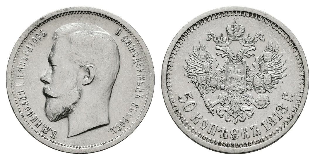 Linnartz Russland 50 Kopeken 1913 (B•C) ss