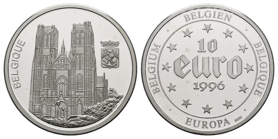 Linnartz Belgien Silbermedaille (10 Euro 1996) PP Gewicht: 20,0g/999er