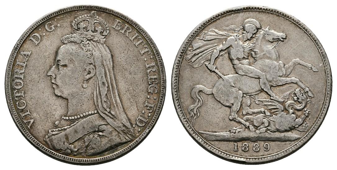 Linnartz Großbritannien Victoria 1 Crown 1889 ss