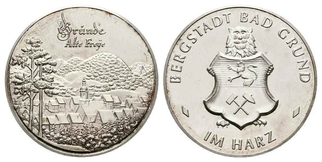 Linnartz Bergstadt Bad Grund im Harz Silbermedaille o.J. Alte Freye stgl Gewicht: 20,06g/925er