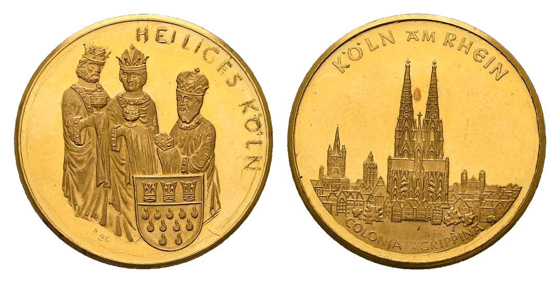 Linnartz Köln Goldmedaille o.J. heilige 3 Könige PP- Gewicht: 3,36g/986er