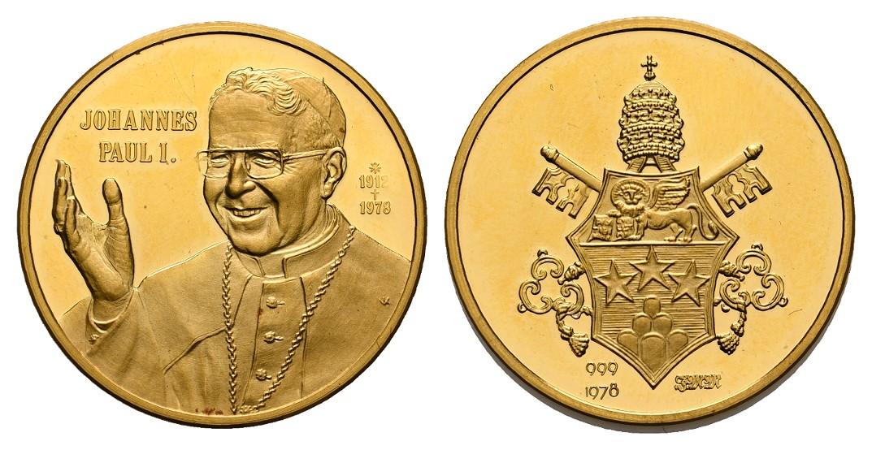 Linnartz Vatikan Johannes Paul I. Goldmedaille 1978 PP Gewicht: 8,0g/999er