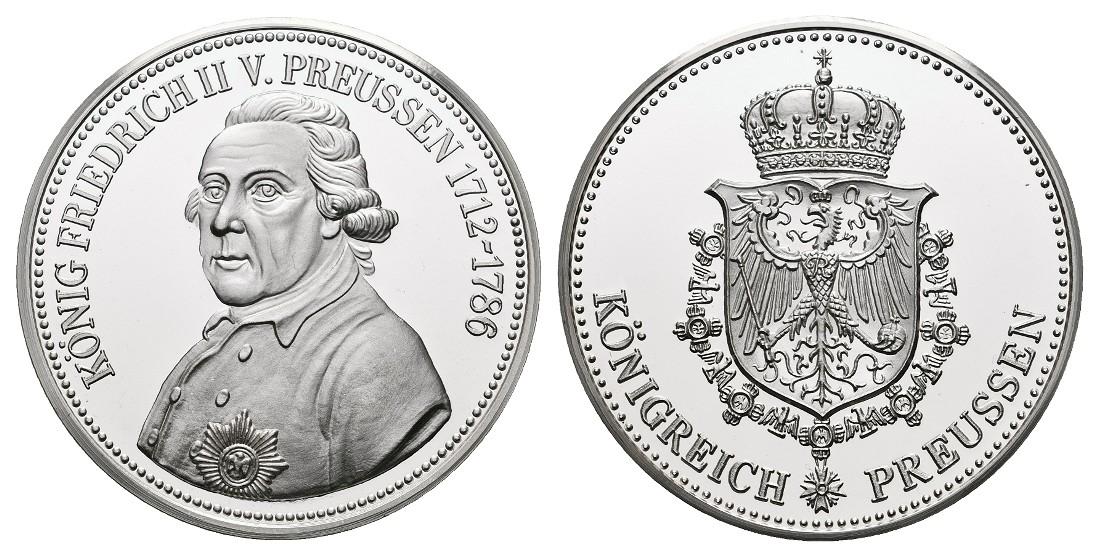 Linnartz Preussen Friedrich II. Silbermedaille o.J. PP Gewicht: 19,9g/1.000er